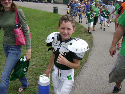 Christopher's 1st Football Game