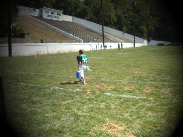 Christopher On The Field